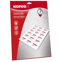 Kores Universal-Etiketten, 48,5 x 25,4 mm, weiß, 25 Blatt