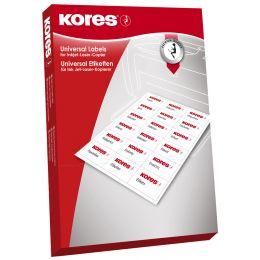 Kores Universal-Etiketten, 64,6 x 33,8 mm, weiß, 500 Blatt