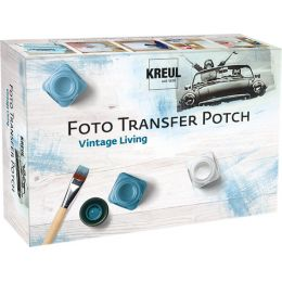 KREUL Foto Transfer POTCH, Set Vintage Living