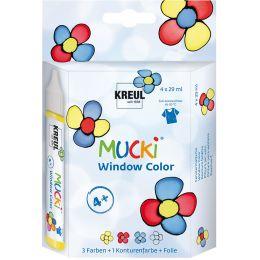KREUL Window Color Pen MUCKI, 4er-Set