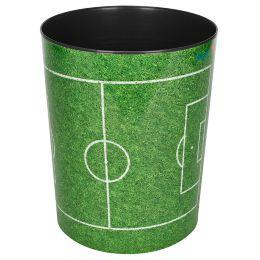 Läufer Papierkorb Fußballfeld