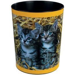 Läufer Papierkorb Katzen im Stroh