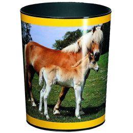 Läufer Papierkorb Pferd und Fohlen