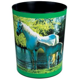 Läufer Papierkorb Pferd und Fohlen am See