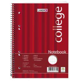 LANDRÉ Notebook college DIN A5, 160 Blatt, kariert