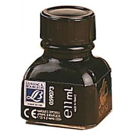 LEFRANC & BOURGEOIS Tinte Nan-King, schwarz, im Glas,