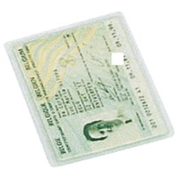 LEITZ Ausweishülle, PVC, 1-fach, 0,20 mm, 54 x 86 mm