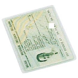 LEITZ Ausweishülle, PVC, 1-fach, 0,17 mm, Format: DIN A7