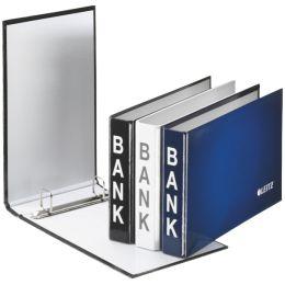 LEITZ Bankordner, für Kontoauszüge, schwarz, 2-Ring-Mechanik