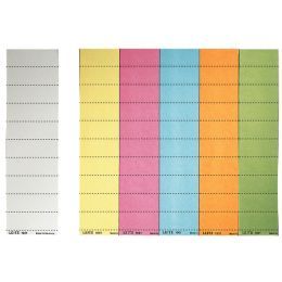 LEITZ Blanko-Beschriftungsschildchen, (B)60 x (H)21 mm, gelb