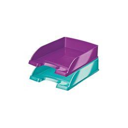 LEITZ Briefablage Plus WOW, A4, Polystyrol, violett