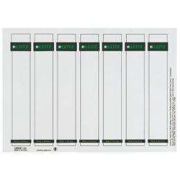 LEITZ Ordnerrücken-Einsteckschild, 31 x 190 mm, Karton, grau