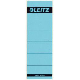 LEITZ Ordnerrücken-Etikett, 61 x 192 mm, kurz, breit, blau