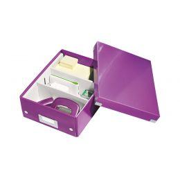 LEITZ Organisationsbox Click & Store WOW, groß, violett