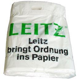 LEITZ Plastik-Tragetasche mit LEITZ-Werbeaufdruck, groß