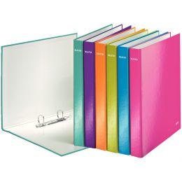 LEITZ Ringbuch WOW, DIN A4, Hartpappe, blau-metallic