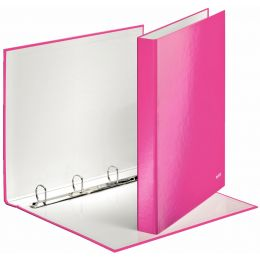 LEITZ Ringbuch WOW, DIN A4, Hartpappe, pink