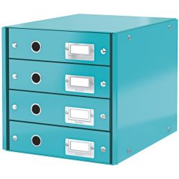 LEITZ Schubladenbox Click & Store WOW, 4 Schübe, eisblau