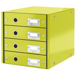 LEITZ Schubladenbox Click & Store WOW, 4 Schübe, grün