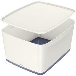 LEITZ Stifteschale My Box, DIN lang, weiß/grau