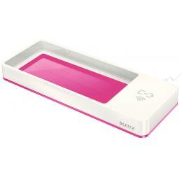 LEITZ Stifteschale WOW Duo Colour, Induktionsladegerät, pink