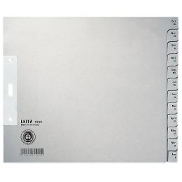 LEITZ Tauenpapier-Register, Monate, A4 Überbreite, Dez.-Jan.