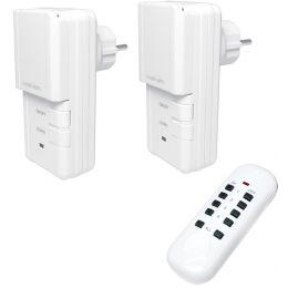 LogiLight Funksteckdosen-Starter-Set, für außen, 3-teilig