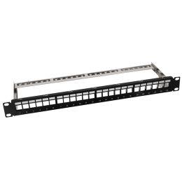 LogiLink 19 Keystone Patch Panel, geschirmt, schwarz