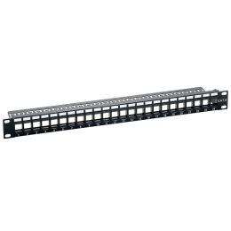 LogiLink 19 Keystone Patch Panel, ungeschirmt, schwarz