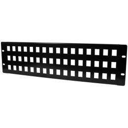 LogiLink 19 Keystone Patch Panel, 48 Port, 3 HE, schwarz