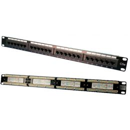 LogiLink 19 Patch Panel Kat. 5E, ungeschirmt, 24 Port, 1 HE