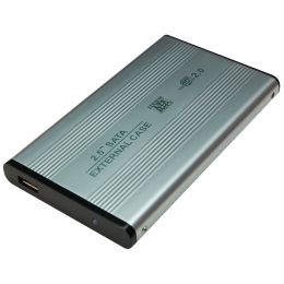 LogiLink 2,5 SATA Festplatten-Gehäuse, USB 2.0, silber