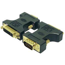 LogiLink Adapter, 15 Pol VGA Stecker - DVI-Kupplung 24+5 Pol