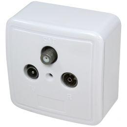 LogiLink Antennen-Aufputzdose, weiß (RAL 9003)