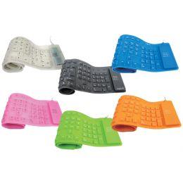 LogiLink Flexible Silikon-Tastatur, kabelgebunden, schwarz