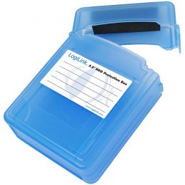 LogiLink HDD-Box für 2 x 2,5 Festplatten, blau