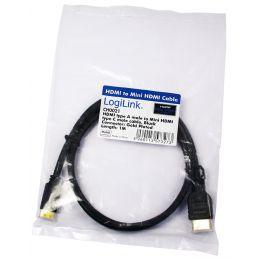 LogiLink HDMI Kabel, A-Stecker - C-Stecker Mini, 1,0 m
