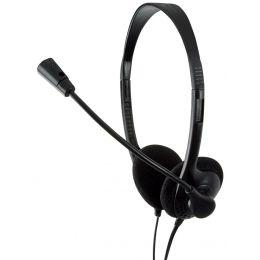 LogiLink Headset Deluxe, mit Mikrofon, schwarz