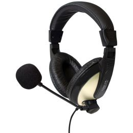 LogiLink Headset High Quality, mit Ohrpolster, schwarz
