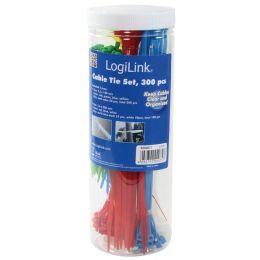 LogiLink Kabelbinder-Set, sortiert, Nylon, Inhalt: 300 Stück