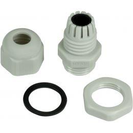 LogiLink Kabelverschraubung M16, IP68, lichtgrau (RAL7035)