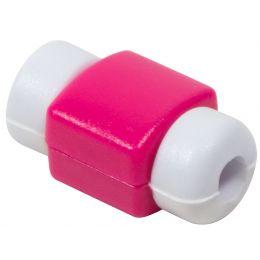 LogiLink Knickschutz für USB Kabel, aus Silikon, pink