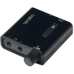 LogiLink Kopfhörer-Verstärker, tragbar, schwarz