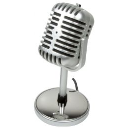 LogiLink Mikrofon Retro Style, Anschluss: 3,5 mm Klinke