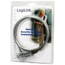 LogiLink Notebookschloss mit Zahlenschloss, 4-stellig