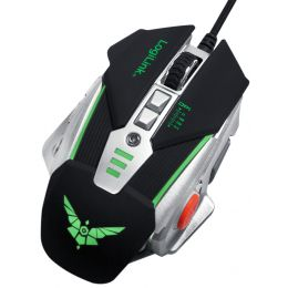 LogiLink Optische Gaming Maus, kabelgebunden, mit Gewichten