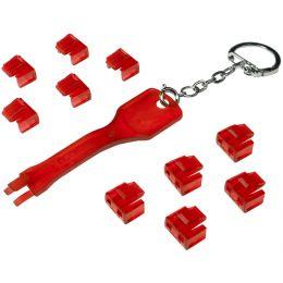 LogiLink RJ45 Sicherheitsschloss, 1 Schlüssel / 10 Schlösser