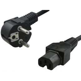 LogiLink Schutzkontakt-Stromkabel, 2,0 m, einseitig