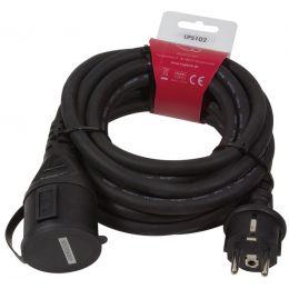 LogiLink Schutzkontakt-Stromverlängerungskabel, 5,0 m, IP44