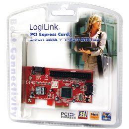 LogiLink Serial ATA + IDE PCI-Express Karte, 2 + 1 Port